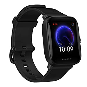 Amazfit Bip U Smart Watch, 1.43″ HD Color Display, SpO2 & Stress Monitor, 60+ Sports Modes, Breathing Training, 50+ Watch Faces (Black)