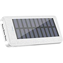 Solar charger Power Bank 24000mah Huge Capacity Portable Charger 3 Output Ports (2A+2A+1A) Backup Battery Pack For iPhone iPad Samsung HTC Cellphones Tablet And More