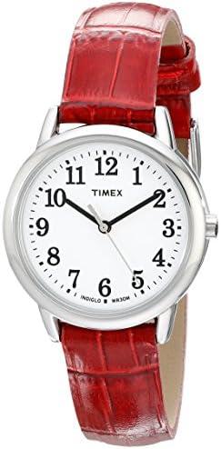 Timex Women's Easy Reader Leather Strap 30mm Watch WeeklyReviewer