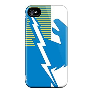 Excellent Design San Diego Chargers Phone Case For Iphone 4/4s Premium Tpu Case