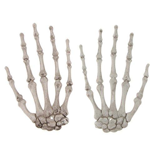 1 Pair Halloween Skeleton Hands Human Hand Bone Zombie Party Terror for Halloween Scary Props -