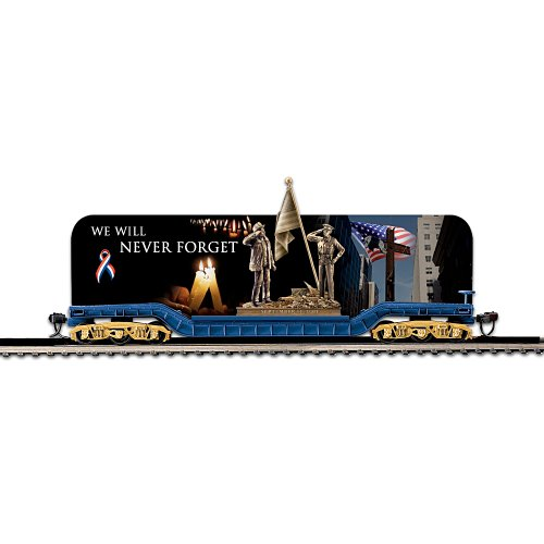 World Trade Center Steel - World Trade Center Tribute Flat Bed Electric Train Car: We Will Never Forget by Hawthorne Village