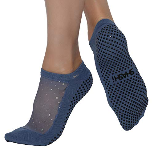 Shashi Star Women's Sparkle Mesh Grip Socks Pilates Barre Yoga