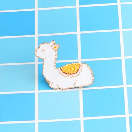 Xeminor Premium Cartoon Llama Enamel Cute Alpaca Styling Badge Brooches Pin for Women Men by Xeminor (Image #3)