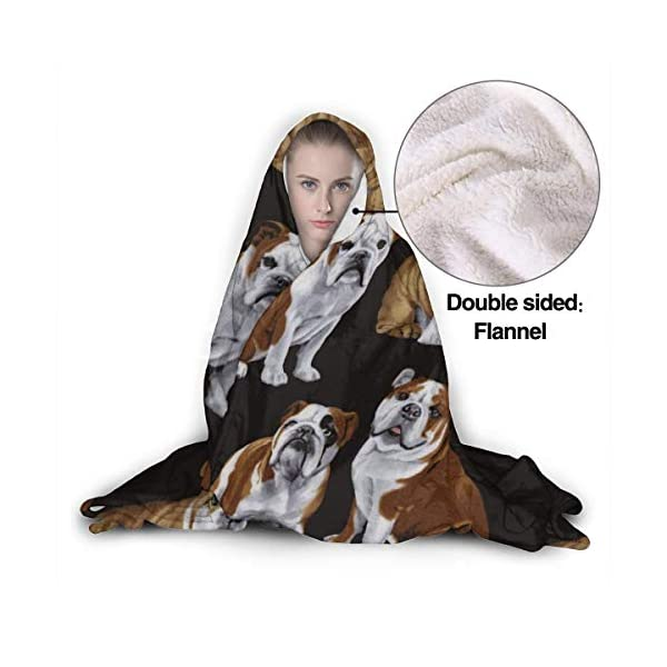 AUISS Wearable Hoodie Blanket Hats Hooded Throw Wrap Cape Cloak Fleece Teens Windproof Home Office Shawl Flannel Fleece with Sleeves 4