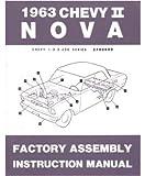 1963 Chevrolet Chevy ll Nova Assembly Manual Book Rebuild Instructions Drawings