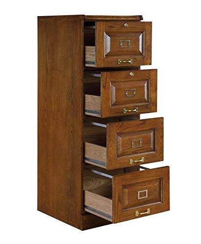 Coaster Home Furnishings Palmetto 4-Drawer File Cabinet Warm Honey (Oak File Cabinet 4 Drawer)