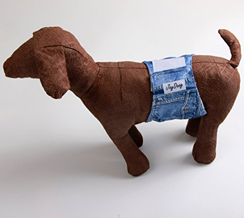 Pictures of JoyDaog Jean Belly BandsSmall Dog Diapers Male 3