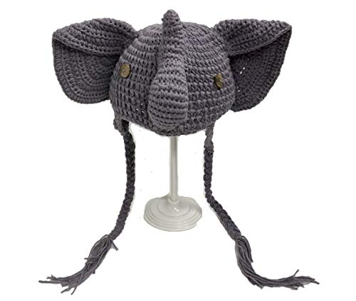 Jennifer + June Baby and Toddler Crochet Hat. (Elephant - Sizes 2T, 3T, 4T and 5T) Gray]()