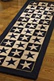 Park Designs Black Star Hook Rug Runner, 24 x 72''