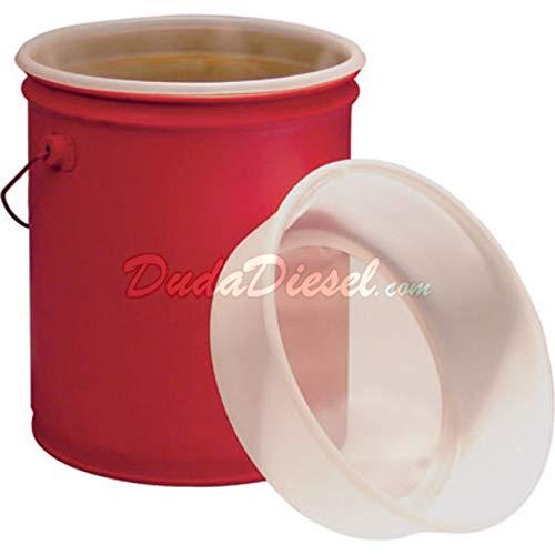 Duda Energy fs5:600u 5 gal EZ Strainer Insert, 600 Micron for Bucket Pail Filtering, Water Paint, Biodiesel, Wvo Wmo Vegetable Oil, 12