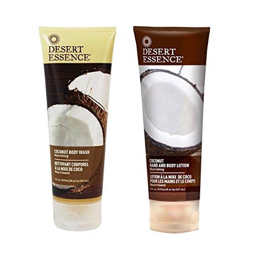 Coconut Body Wash & Lotion, Desert Essence 8 fl oz