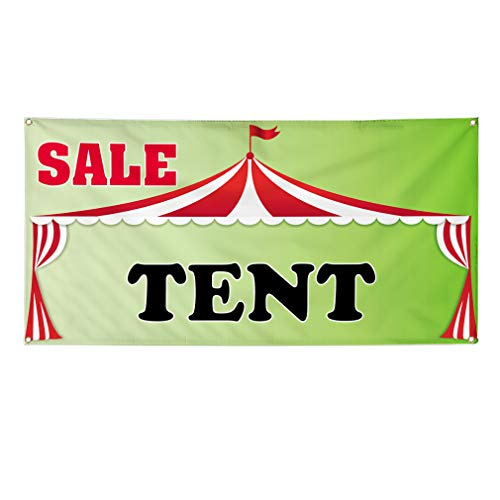 Vinyl Banner Sign Sale Tent Business Sale Tent Outdoor Marketing Advertising Green - 32inx80in (Multiple Sizes Available), 6 Grommets, Set of 5 from Sign Destination