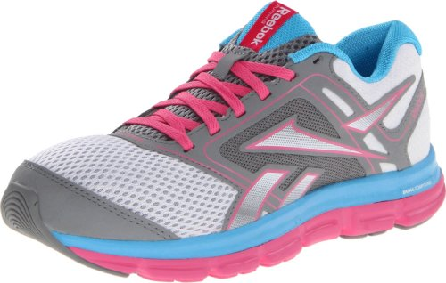 Reebok Women's Dual Turbo Fire Running Shoe,White/Flat Grey/Optimal Pink/Blue Blink,9 M - Shoe Road Running Fire