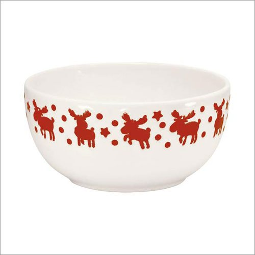 Waechtersbach White With Red Moose Cereal Bowl Set of 4