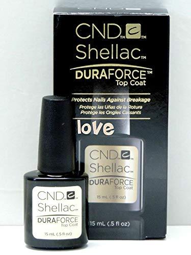 New Size! GelColor CND Large Shellac Gel Polish 15ml-0.5fl.oz/Choose Any Color Large DuraForce Top Coat 15ml ()