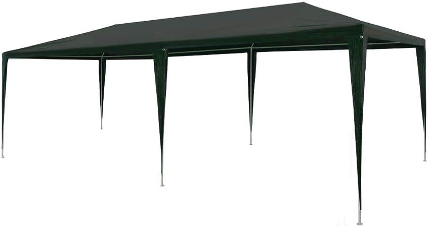 tidyard - Toldo Vela Impermeable Rectangular, 3 x 6 m, PE/Marco de Acero/Verde, Protección Antiviento y UV para Jardín, Terraza, Camping: Amazon.es: Hogar
