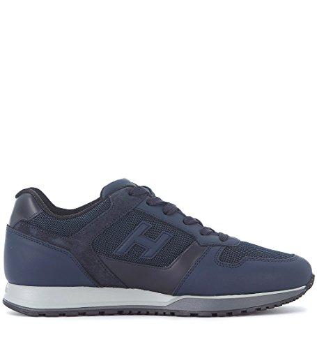Hogan Sneakers H321 I Læder Blå Og Teknisk Textilie Blå OX2PWQ