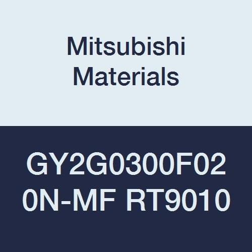 0.118 Grooving Width Pack of 10 Mitsubishi Materials GY2G0300F020N-MF RT9010 Series GY Carbide Grooving Insert for Multifunctional and Finishing 2 Teeth F Seat 0.008 Corner Radius