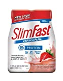 SlimFast Original Ready-to-Drink Shake, Strawberries & Cream (Pack of 24)