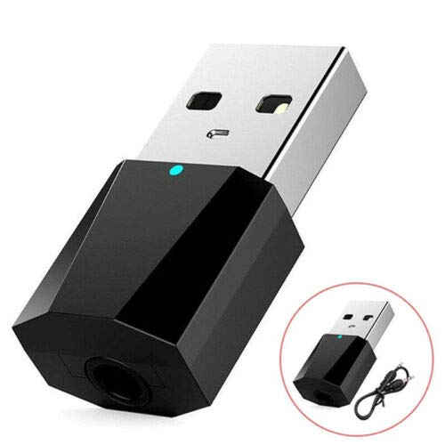 Macabolo Mini Portable 3.5 mm Wireless USB Bluetooth Audio Receiver Adapter Home Auto Stereo M/úsica AUX//RCA Adaptador para tel/éfono Tablet MP3//4
