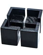 """Pack of 4 Bed Riser Square Furniture Risers,Adds 2"""" Height to Sofas, Desks,Tables and Chairs Create Underbed Storage…"""