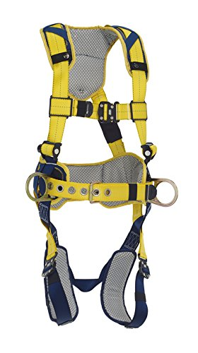 3M DBI-SALA DeltaComfort 1100787 Fall Arrest Kit with Back/Side D-Rings, Belt with Pad, Quick Connect Buckle Leg/Chest Straps and Comfort Padding, Large, Navy/Yellow (Leg Connect Quick)