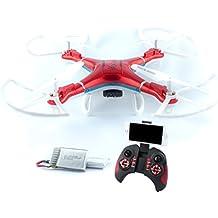 [Patrocinado] Dron quadcopter negro con cámara, luces LED, dron RC con estabilidad de vuelo, vuelos de 30 minutos con batería adicional de QCopter