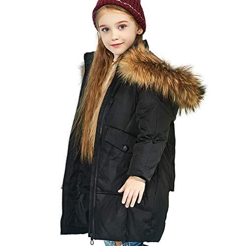 Filles De Duvet En sjc L'hiver Pour Froid Manteau LongueurParfaits Vêtements Rstj Black Chaud Moyenne 4jcLS5ARq3
