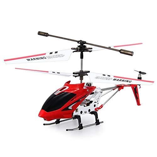 ElevenY 2019 S107G 3.5CH Metal Alloy RC Helicopter with Gyro Radio Remote Control Toys Fuselage R/C Helicoptero Quadcopter – Rechargeable Helicopter Toys (Color : Red)
