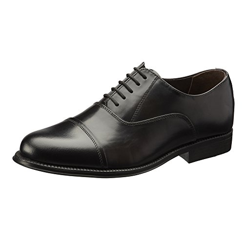 Clifford James Classic Oxford Men's Real Leather Shoes. (7, Black)