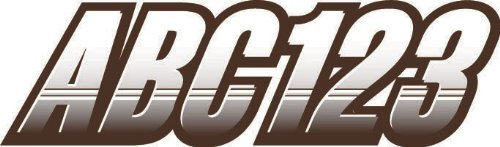 STIFFIE Techtron White/Brown 3 Alpha-Numeric Registration Identification Numbers Stickers Decals for Boats & Personal Watercraft