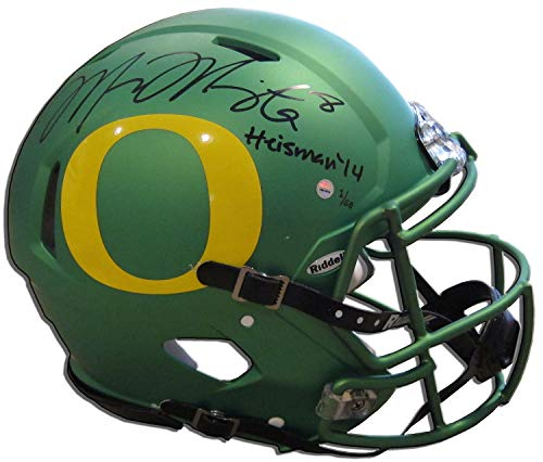 "MARCUS MARIOTA Signed/Inscribed""Heisman 14"" Speed Helmet STEINER LE 14/50"
