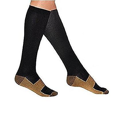 Cobre calcetines de compresión viajes Varices de Caña Alta Stocking