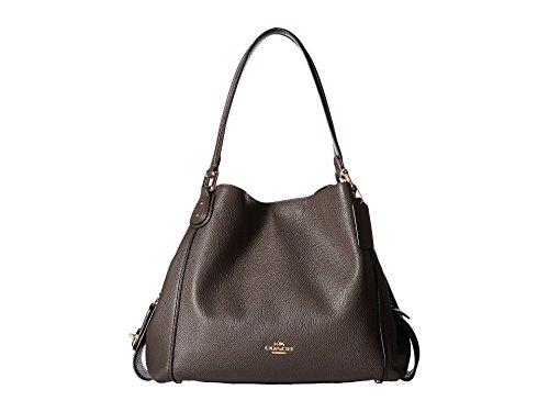 - COACH Women's Polished Pebbled Leather Edie 31 Shoulder Bag Li/Chestnut Handbag