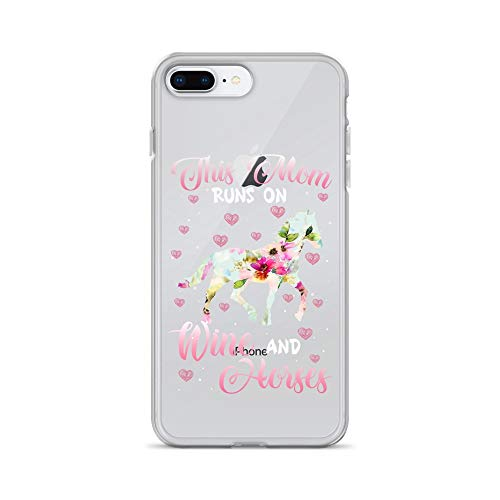 iPhone 7 Plus/8 Plus Pure Clear Case Crystal Clear Cases Cover Wine and Horse Lover Day Equestrian Mom - Vermouth Italy