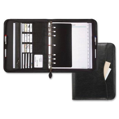 Day-Timer Avalon Zipper Starter Set Organizer - Monthly - 8.50quot; x 11quot; - Vinyl - Black