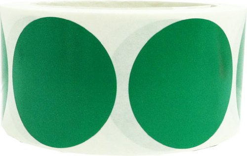 Round Green Stickers