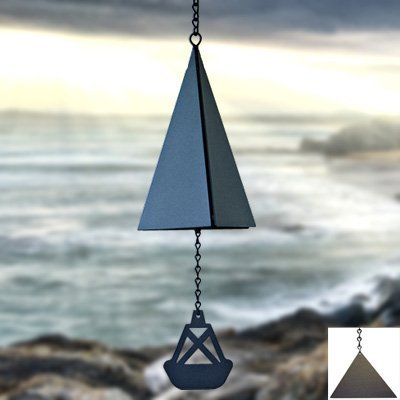 North Country Wind Bells, Inc. 109.5040 Bass Harbor Bell with black triangle wind catcher