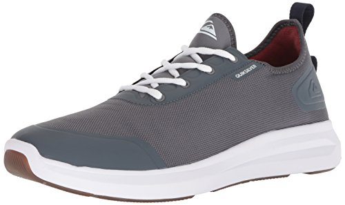 (Quiksilver Men's LAYOVER Travel Shoe Skate Grey/White, 12 M US)