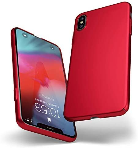 Custodia rigida sottile rosso opaco per iPhone 11 Pro - UltraSoft