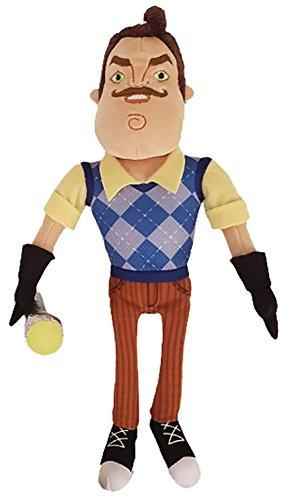 Hello Neighbor Neighbor Plush Figure Toy, 10 inches (Holding Flashlight) (Polyester Plush Toy)