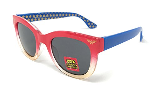 Wonder Women Girl's Sunglasses in Red and Blue with - Star Red Sunglasses