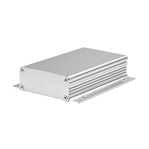 Eightwood Aluminum DIY Electronic Box Enclosure Case -4.33 x 2.44 x 0.98 (LengthWidthHeight), Smooth Top Striped with Fixing Points Flange Box by Eightwood