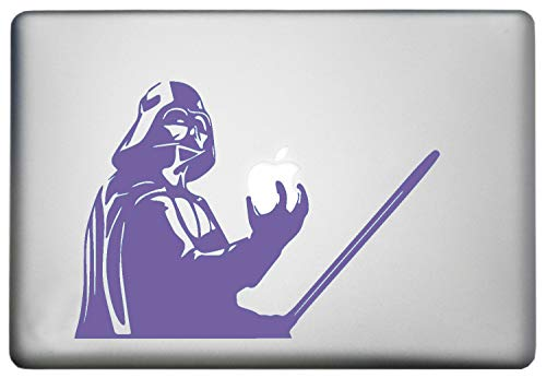 Star Wars Darth Vader MacBook Decal - Sticker Holding Lightsaber for 13 inch Apple MacBooks Air Pro Retina or Other Laptops Purple