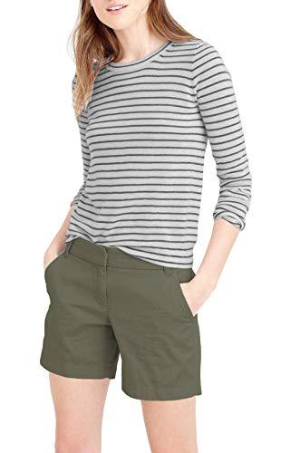 (HyBrid & Company Womens Super Comfy Bermuda Walking Short BW31201. Dark Olive)