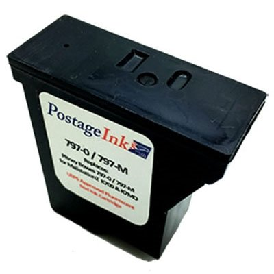 0 Ink Cartridge - Pitney Bowes 797-0 Red Ink Cartridge for K700, Mailstation and Mailstation 2 Postage Meters