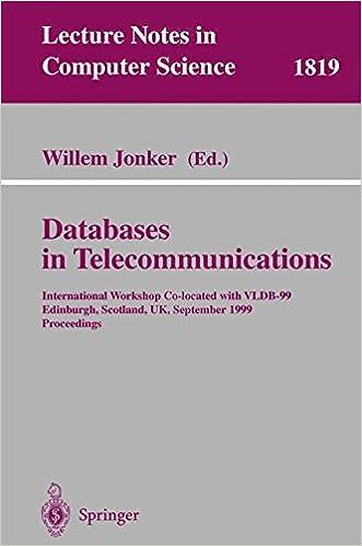 Amazon com: Databases in Telecommunications: International