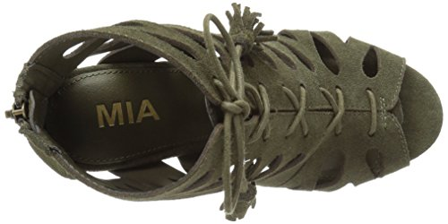 MIA Women's Cara Huarache Sandal Olive CPSwv4ZUU