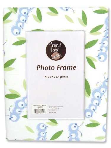 Trend Lab Fabric Covered Photo Frame, Caterpillar (Frame Fabric Picture Covered)